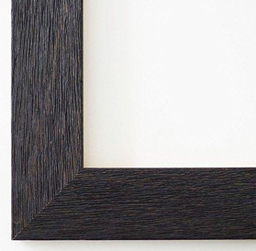 Bilderrahmen Schwarz - 24 x 30 cm mit Normalglas - Modern, Landhaus - Alle Größen - Handgefertigt - Galerie-Qualität - WRF - Florenz 4,0