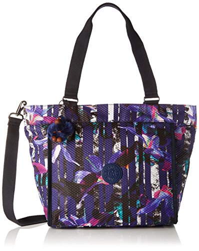 Kipling Damen New Shopper S Tote, Mehrfarbig (Urban Flower Bl), 42x27x0.1 cm (Bag Tote New-handtaschen)