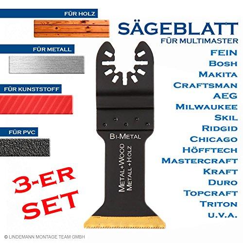 Sägebatt 45mm Metallsägeblatt Holzsägeblatt Multifunktionwerkzeug Multimaster Zubehör für Fein, Bosch u.a. 3er-SET