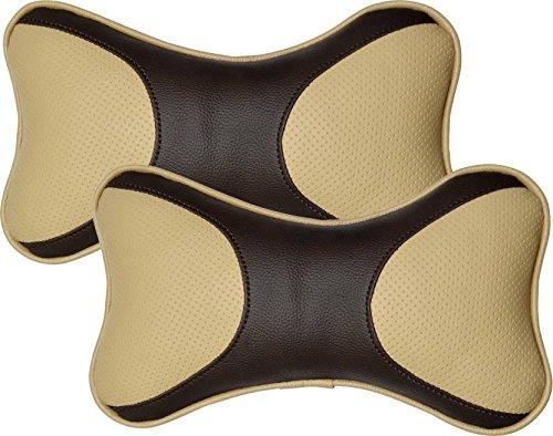 PegasusPremium Pegasus Premium Leatherite Car Pillow Cushion For Nissan MicraActive (Rectangular, Pack of 2)
