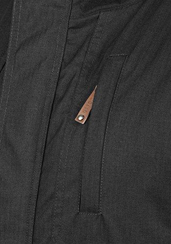 SOLID Bellippo Herren Winterjacke Lange Jacke Parka mit Kapuze aus hochwertigem Material, Größe:M, Farbe:Black (9000) - 4