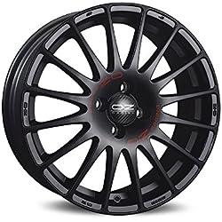 Oz Superturismo GT Matt Black Red Lettering 7x 18eT394x 100jantes en alliage