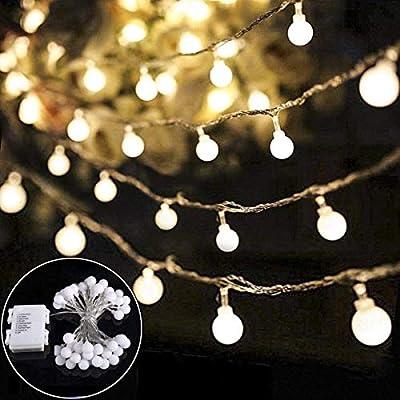 B-right LED Globe Lichterkette, Globe String Licht Sternenlicht, Innen- und Außen Deko Glühbirne, Weihnachtsbeleuchtung für Weihnachten, Hochzeit, Party, Weihnachtsbaum