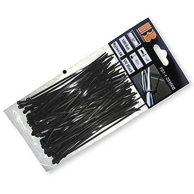 1000 Stk. Kabelbinder 300x4,80 mm schwarz Nylon66 Zugkraft: 22 Kg Qualitätware
