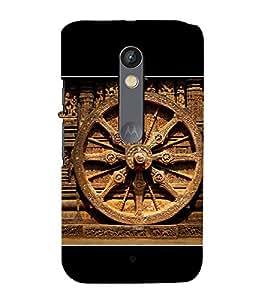 PrintVisa Odissa Konark Wheel 3D Hard Polycarbonate Designer Back Case Cover for Motorola Moto X Play