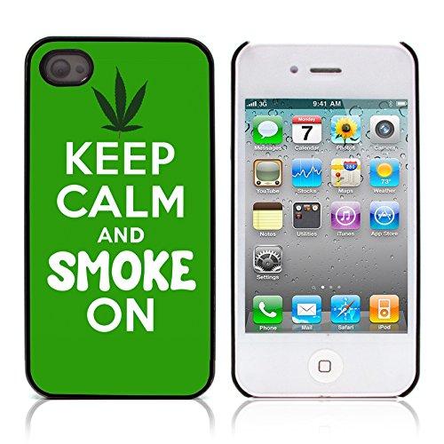 Graphic4You Marihuana Cannabis Hanf Blatt Raucher Design Harte Hülle Case Tasche Schutzhülle für Apple iPhone 4 und 4S Design #3