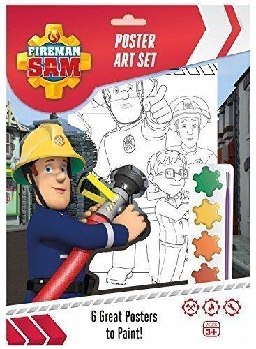 Feuerwehrmann Sam Plakat Kunst Set Schminke 6 Poster Partybeutel Strumpffüller (Kunst Feuerwehrmann)