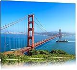 Golden Gate Bridge à San Francisco Format: toile 120x80auf, XXL énormes Photos complètement encadrés par la civière, l'impression de l'image Art mural avec cadre, moins cher que peintures à l'huile et de l'image, aucune affiche ou poster