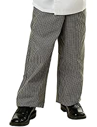 KNG Checkered Zip Front Chef Pant