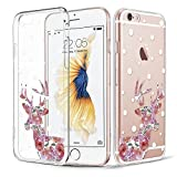iPhone 5/5s/5SE Case, Walmark Soft Gel TPU Silicone Case Clear with Design Cute Cartoon Slim Fit Ultra Thin Protective Cover for Apple iPhone 5/5s/5SE_Rosy Sika