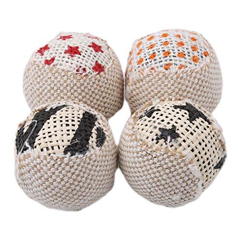 Lalang 4PCS Katzenminze Katzenspielzeug Ball, Haustier Katzen Interaktives Spielzeug
