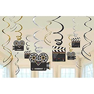 amscan Hollywood Swirls Decorations