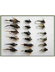 18Nymphe mouches de pêche, Greenwell, tigre et Coch Y bondhu