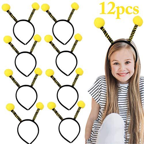 FunPa Bienen Haarreif, 12 Stück Bienen Stirnband Party Stirnband Niedlichen Kopf Bopper Antenne Stirnband Biene Stirnband Kostüm Kleid Party Haarband Biene Kinder Haarreifen Damen (Kostüm Antenne)