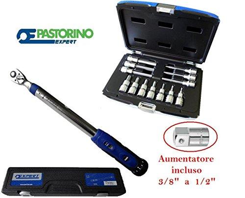 LLAVE DINAMOMETRICA 10-50NM CASQUILLO 3/8PASTORINO EXPERT PIU 7641/2E13
