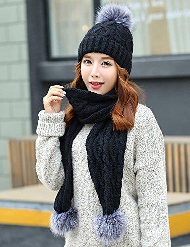 LHP Chapeau Femmes Hiver Chapeau Coréen Tricoté Chapeau De Laine En Tricot Haut de gamme A