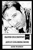 David Duchovny Adult Coloring Book: Fox Mulder from X Files and Multiple Golden Globes Award Winner, Californication Star and Cultural Icon Inspired Adult Coloring Book