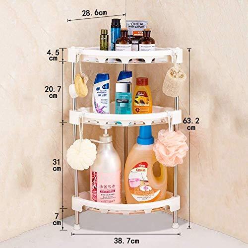 SQAW Dreieck Badezimmer Regale freistehend, 5-Tier-Free Bohren Eitelkeit Regal Dusche Lagerung Ecke Ablagekorb (Farbe : A) - Tier-regal Eitelkeit