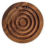 Murmelspiel, ein Geschicklichkeitsspiel, Holzspiel, Denkspiel, Knobelspiel, Geduldspiel aus Holz