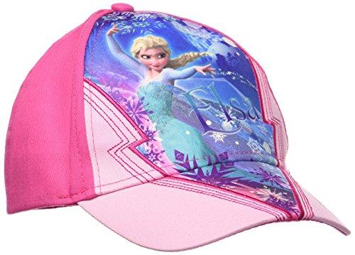 Disney Frozen, Gorra Nias, Rosa (Pink 18-2436TC), Talla única (Tamaño Fabricante:52)