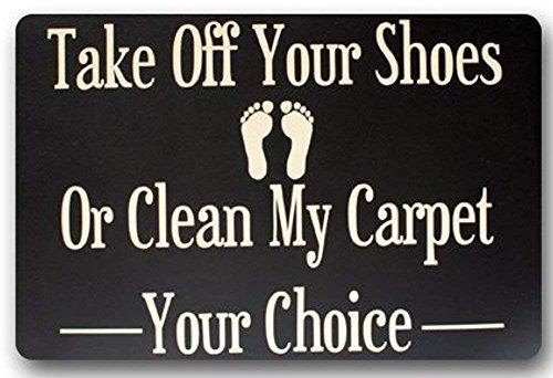Jkimiiscute Outlet-Seller Custom Please Take Off Your Shoes - Felpudo (60 x 40 cm)