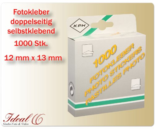 Fotokleber Fotosticks selbstklebend 1000 Stück Fototapes Foto Sticker zweiseitig