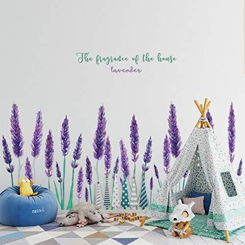 mer aufkleber kinder tieren küchen wanddeko Lila Lavendel Wandaufkleber Schlafzimmer Dekor Tv Hintergrund Home Decor Wohnzimmer Fenster ()
