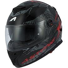 Astone Helmets gt800-spider-rbm casco Moto Integral GT 800, rojo/negro, talla M