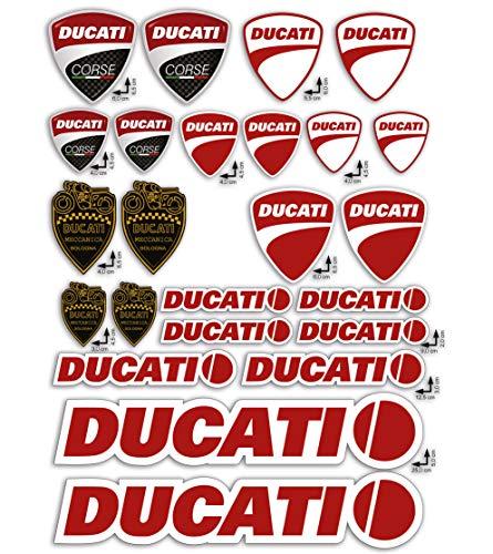 GamesMonkey Stickers Pegatinas Set Ducati Corse Logo Panel Entero 24pz Oferta Motor Casco Moto ...