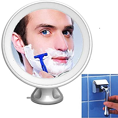 No Fog Shaving Mirror 5X Magnifying LED Light Illuminated Shaving Makeup cosmetic Vanity Wall Mounted Mirror 360 Degree Rotating /Free Razor Rack produced by Easy link Technologies (HK) Co.,ltd - quick delivery from UK.