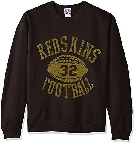 NFL Washington Redskins Men's Fleece Crew Sweatshirt, Medium, Black