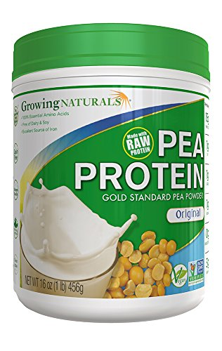 Growing Naturals Yellow Pea Protein Original, Original 16 OZ