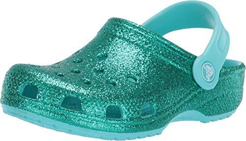 Crocs classic glitter clog kids pool croslite