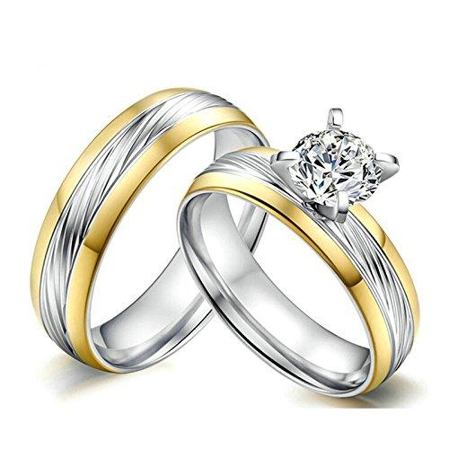 Aooaz Partnerringe Edelstahl 2PCS Ringe 6MM mit Laser Gravur GRATIS Hochzeitsringe Bandring