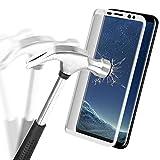 Samsung Galaxy S8 Pellicola Protettiva, Danibos 3D Full Cover Glass Screen Protector Protettiva Corazzato Pellicola di Vetro Dello Schermo Temperato Curvo Vetro di Protezione Protector Hardglass Proteggi per Samsung Galaxy S8(Bianca)