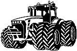 plot4u Wandtattoo Trecker Traktor Kinderzimmer Spielzimmer in 9 Größen und 19 Farben (75x48cm schwarz)