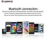 Dailyinshop LEMFO X7 Bluetooth Smart Watch Schrittzähler Herzfrequenz-Motion-Schlaf-Monitor (Farbe: Silber & Braun)