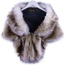 i-Furzone warm Faux Fur boda chal de abrigo perfecto para boda / fiesta / show