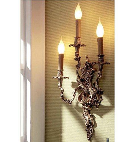 Kupfer Wand Schatten (Gowe Kupfer Stoff den Nachttisch Lampen Schatten Dekoration Main Material art Wand Vintage Wandleuchte für Innen Treppe Beleuchtung Retro Lampen)