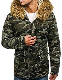 b9e87d885516 MonsieurMode - Parka Camouflage avec Capuche Parka Camo M917 Vert - Vert