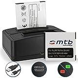 2 Batteries + Double Chargeur (USB NP-50 pour Fuji F200EXR, F300EXR, F300EXR, XP... / Ricoh WG-M2 / Kodak Easyshare M…, V… / Pentax.. - v. liste!