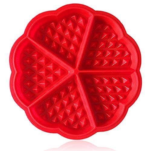 ZTSY Bakeware Hohe Qualität Silikon Waffel Backen Formen Mini Herz Waffel Form Muffin Backform & #-; rot - Silikon-form Waffel