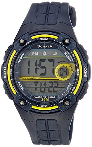 Sonata Super Fibre Digital Grey Dial Men's Watch -NK7949PP02