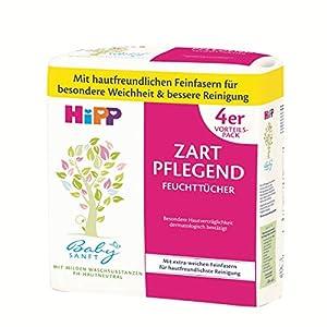 HiPP Babysanft Feuchttücher zart pflegend, weiß, 4 x 56 Stück
