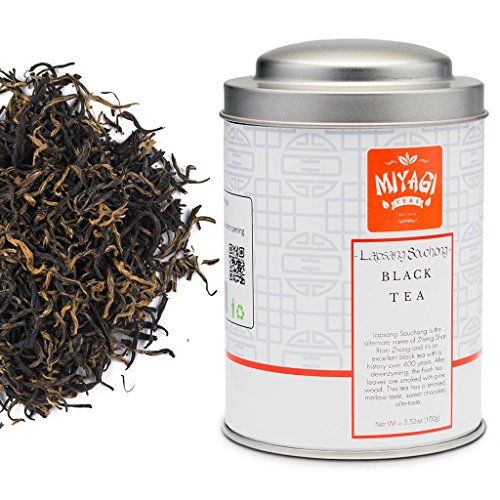 Miyagi Tea - Lapsang Souchong Premium Black Tea - Loose Leaf - 3.52oz (100g) / tin can
