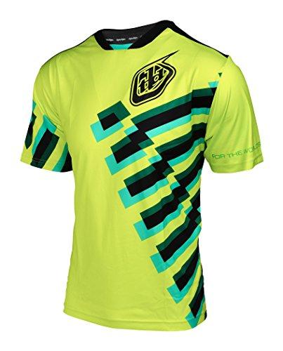 Troy Lee Designs Skyline Short Sleeve Jersey Men Force yellow/black 2017 Short Sleeve Cycling Jersey