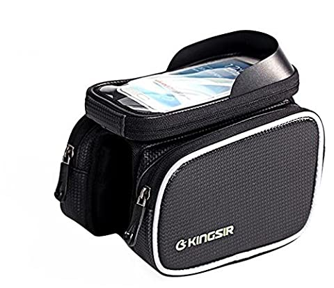 PYRUS Kingsir Outdoor Bicycle Front Tube Cell Phone Bag with Touch Screen Phone Case for iPhone Samsung HTC Nokia Sony LG and other
