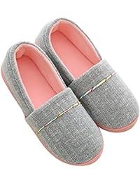 e819301c8d12 Pantofole di Cotone per Donna - Antiscivolo Scarpe Chiuse Ciabatte  Invernali da Pingenaneer L/39