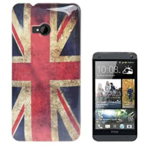 Rocina Hardcase Protective Cover for HTC One M7 with Retro England Flag Design