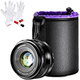 Neewer 35mm F/1.7 Manual Focus Prime Fixed Lens With Lens Pouch And Cleaning Kit For SONY E-Mount Digital Cameras, Such As NEX3, 3N, 5, 5T, 5R, 6, 7, A5000, A5100, A6000, A6100 And A6300 (NW-E-35-1.7)